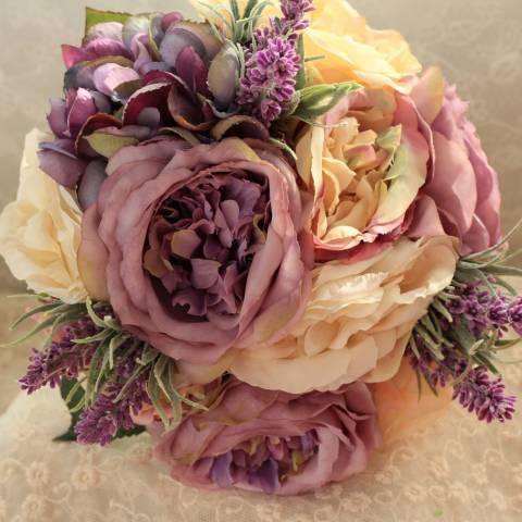 مسكة عروس مميزة 2016 بتدرجات اللون البنفسجي