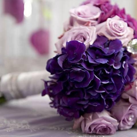 مسكة عروس 2016 بتدرجات اللون البنفسجي