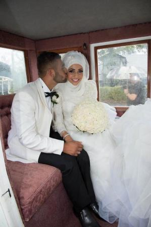 صور فساتين زفاف للمحجبات