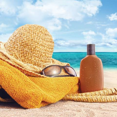 كريم الوقاية من أشعة الشمس.